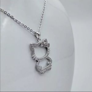 No Brand Jewelry - Hello Kitty 925 Sterling Silver Necklace.